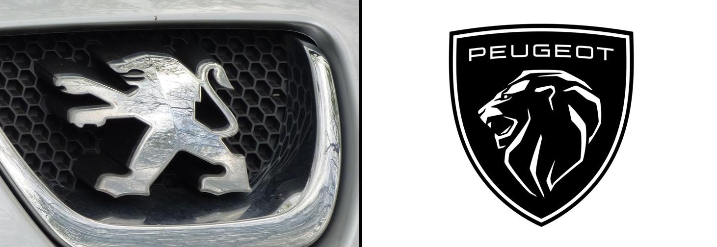 Peugeot logosunu değiştirdi. Ünlü marka logosunu yeniledi. Eski ve yeni logonun kıyaslanması. Peugeot yeni logosuyla adeta 1960'lara geri döndü.